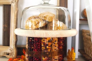 Indian Corn Cake Stand