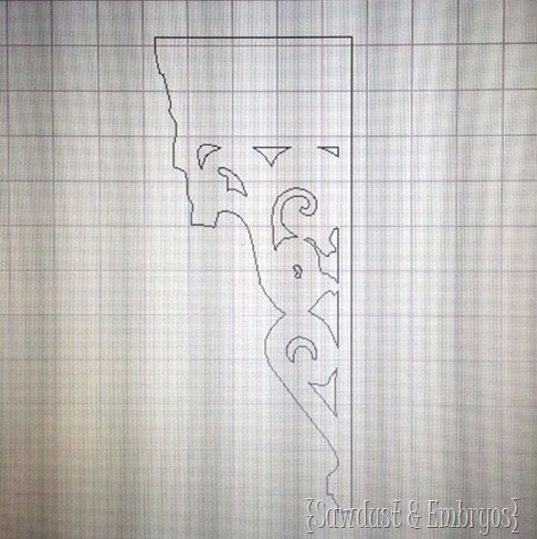 Dana's rendering of my corbel {Sawdust and Embryos}