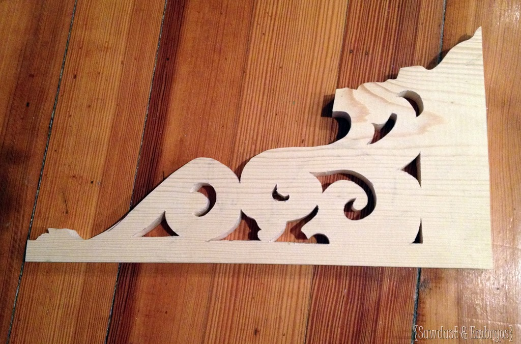 image relating to Printable Corbel Templates named Do-it-yourself Corbels for a Breakfast Bar Truth of the matter Daydream