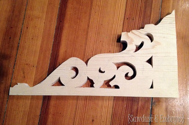 How to make your own corbels with a scroll saw.