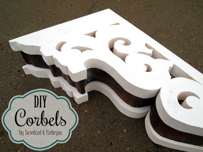 Make your own corbels! It's a lot easier than it looks! {Sawdust and Embryos}