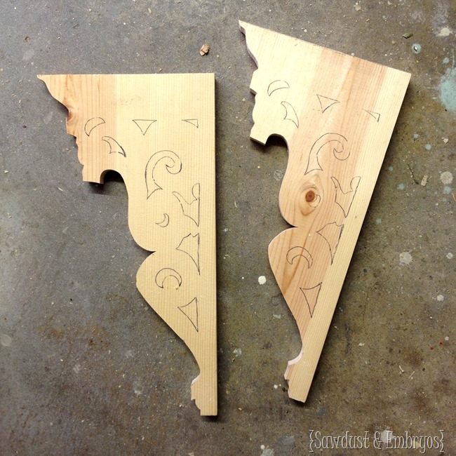 Make your own corbels! {Sawdust & Embryos}