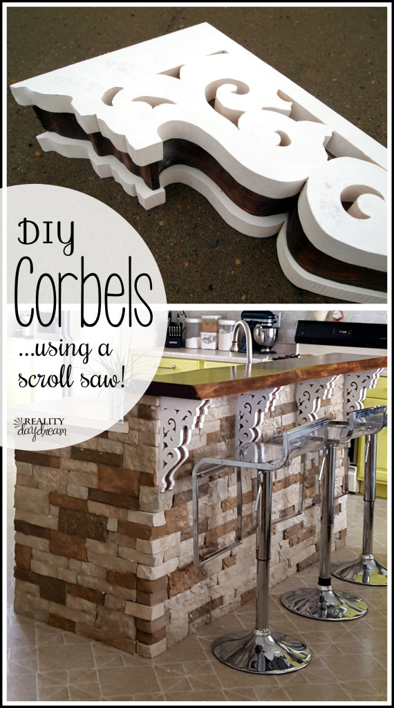 Make your own ornate corbels... using a scroll saw! {Reality Daydream}