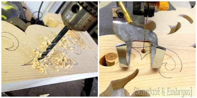 Use a scroll saw to add amazing details to your DIY corbels.