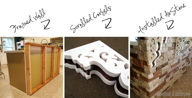 Steps for adding a breakfast bar to an existing island.