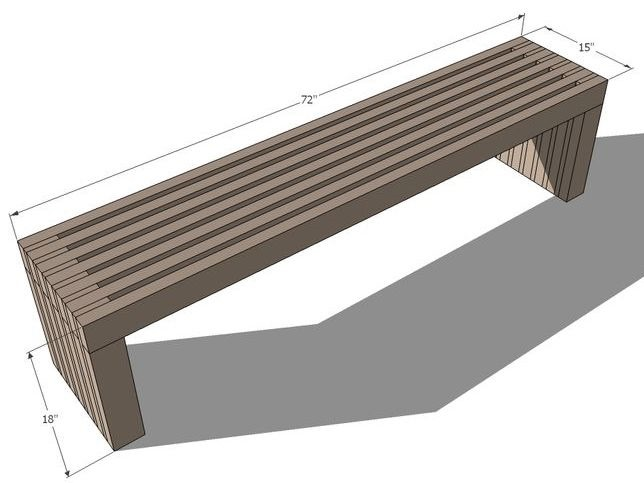Bench plans by Ana White
