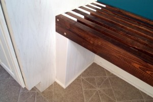 Built-in Mudroom Bench {Kitchen}