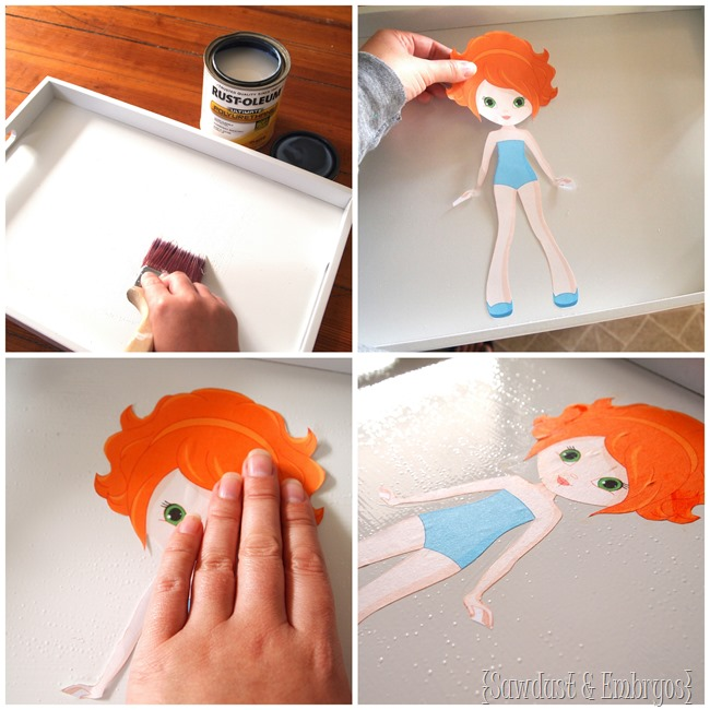 DIY Wooden Paper Doll project... great entertainment for little girls! {Sawdust and Embryos}