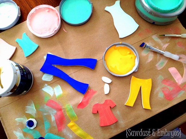 DIY Wooden Paper Doll with tiny wooden clothing! Totally customizable... and DARLING {Sawdust and Embryos}