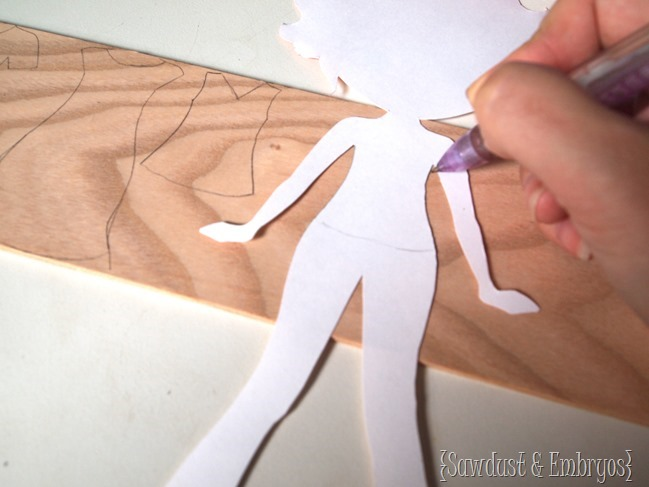 How to make a wooden Paper Doll with little wooden clothes... super cute! {Sawdust and Embryos}