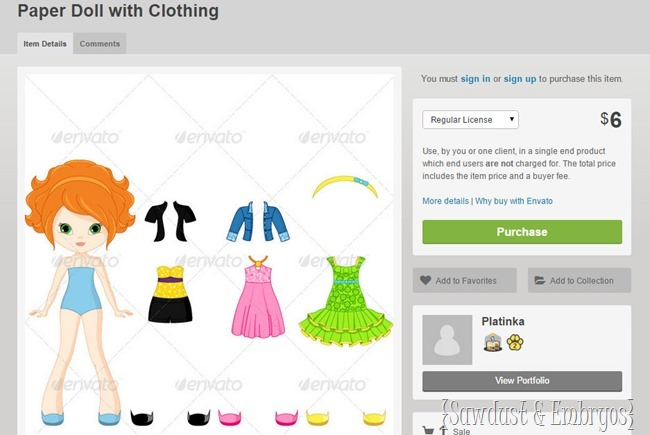 Paper Doll Download for Wooden Paper Doll Tutorial {Sawdust and Embryos}