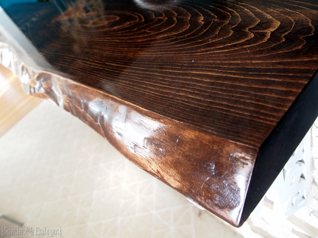 breakfast bar counter live edge lacquer reality daydream