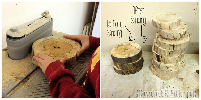 Use wood-slabs to make a super unique table lamp! {Sawdust and Embryos}