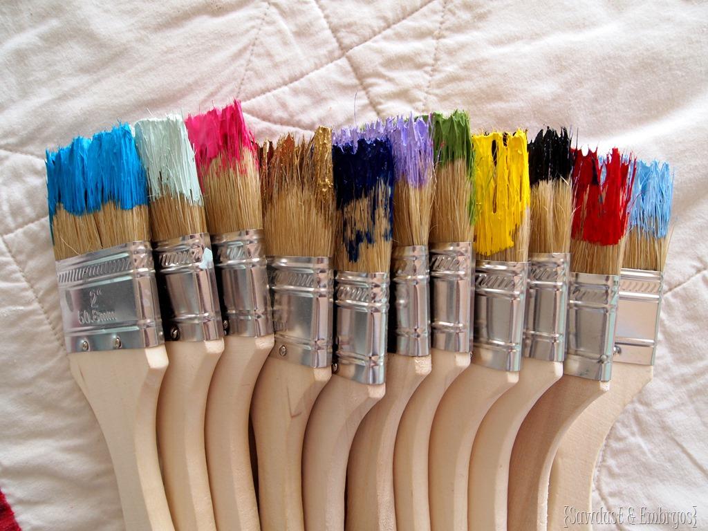 Dipped Paint Brush Starburst Clock - Reality Daydream