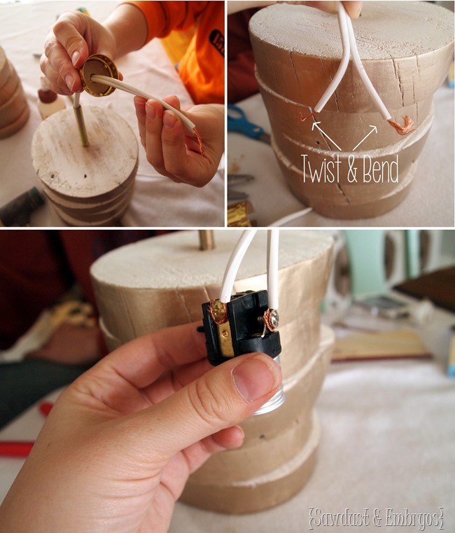 Very detailed and simple instructions for wiring your own table lamp {Sawdust and Embryos}