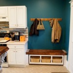 Rolling Mudroom Bench with Cubbies!