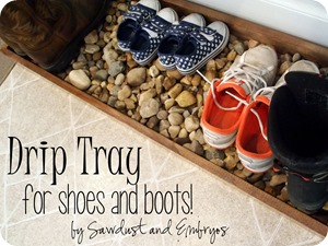 Drip Tray for Shoes and Boots {by Sawdust and Embryos}