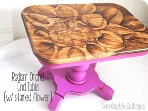 End-table-transformation-using-the-Stained-Artwork-technique-and-Radiant-Orchid-for-the-base-Saw1