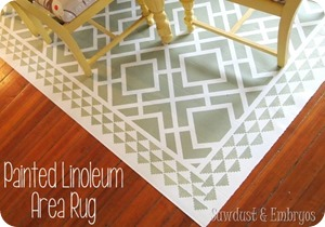 PAINT-a-remnant-of-linoleum-to-look-like-an-area-rug-for-under-your-dining-table-Sawdust-and-Emb1