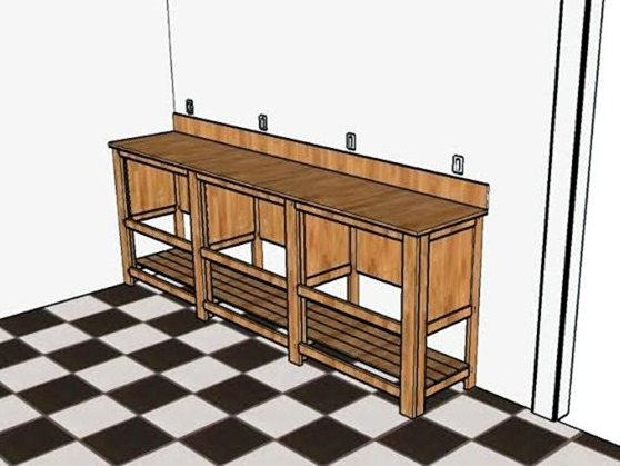Plans for long and narrow vanity {Sawdust and Embryos}