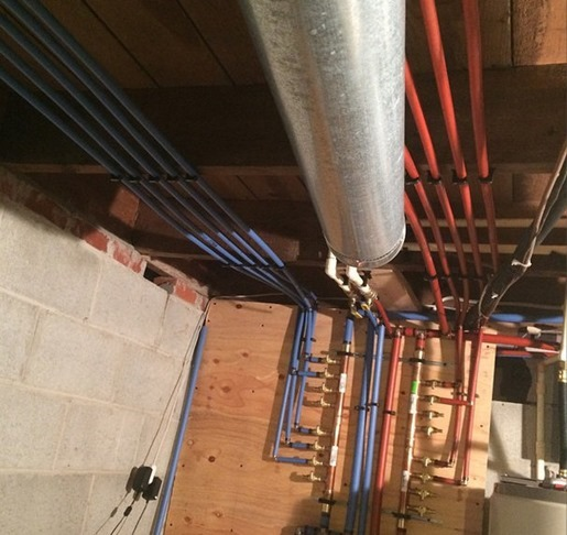 Plumbing replaced with pex {Sawdust and Embryos}