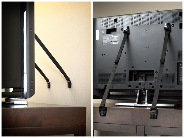 Securing your television to the wall can prevent tipping injuries.
