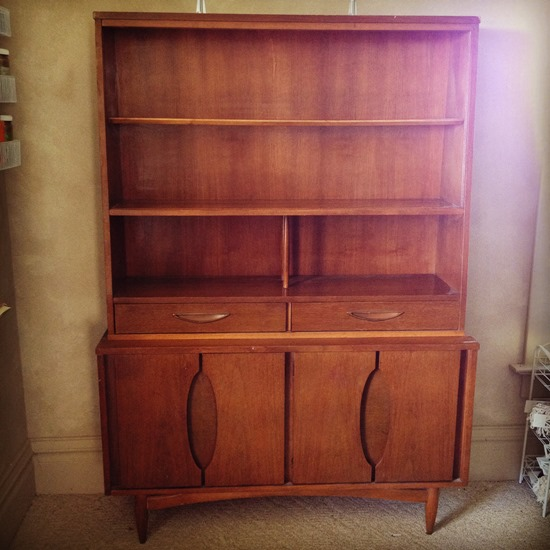 Thrifted Mid-Century Hutch {Sawdust and Embryos}