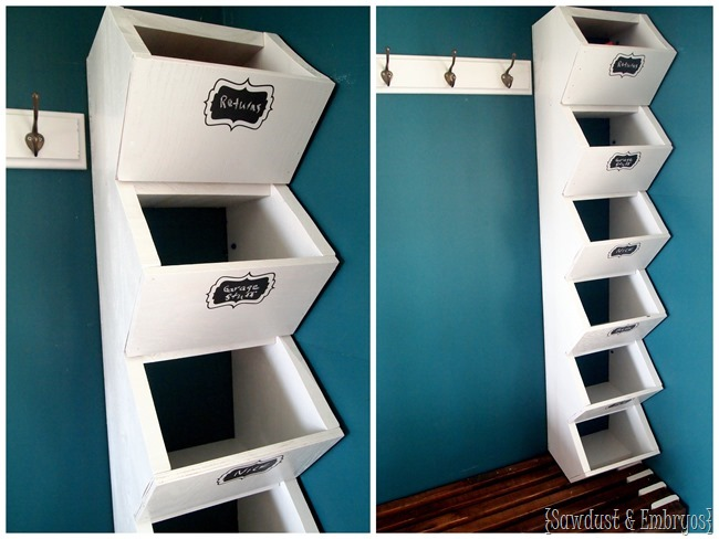 Build your own custom cubbies for your mudroom to hold hats, mittens, etc. Super simple tutorial!