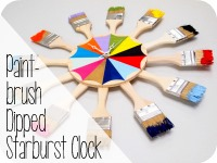 Colorful Paint Brush Starburst Clock (or mirror) Tutorial {Sawdust & Embryos}