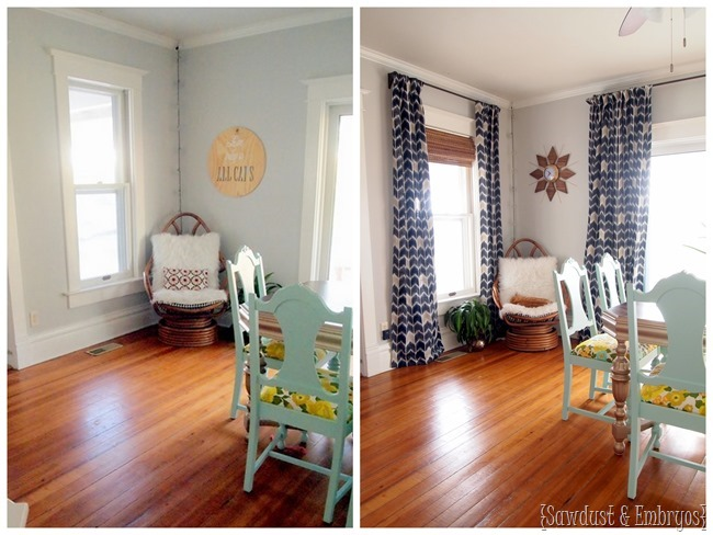 Curtains make such a difference! {Sawdust and Embryos}