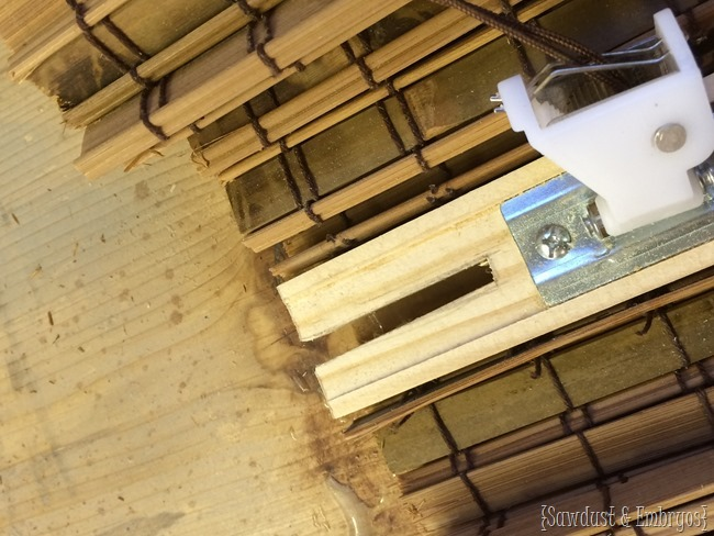 Customizing bamboo blinds {Sawdust and Embryos}