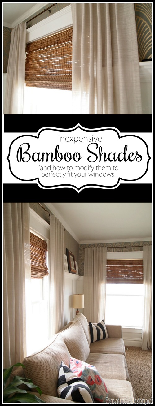 Detailed instructions on cutting woven bamboo shades to perfectly fit your windows!