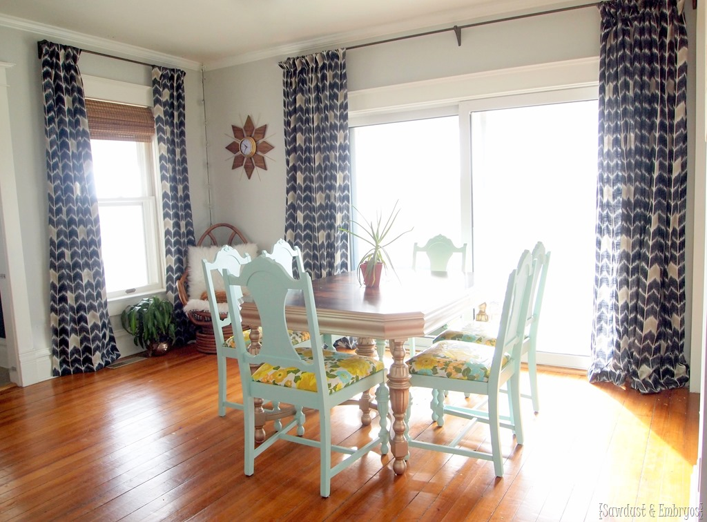 Dining Room Curtains AT LAST! - Reality Daydream