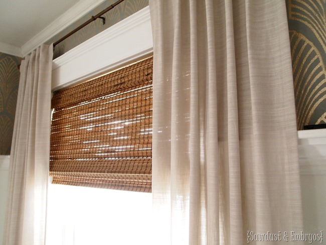 How to modify the width of woven bamboo shades to perfectly fit your windows! {Sawdust and Embryos}