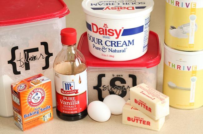 Ingredients for Brown Sugar Cookies