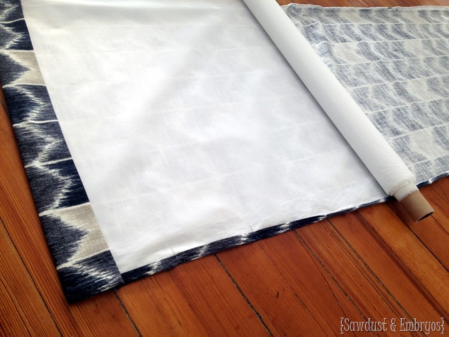 Make your own lined curtains... simple! {Sawdust and Embryos}