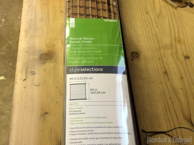 Modifying woven bamboo blinds {Sawdust and Embryos}