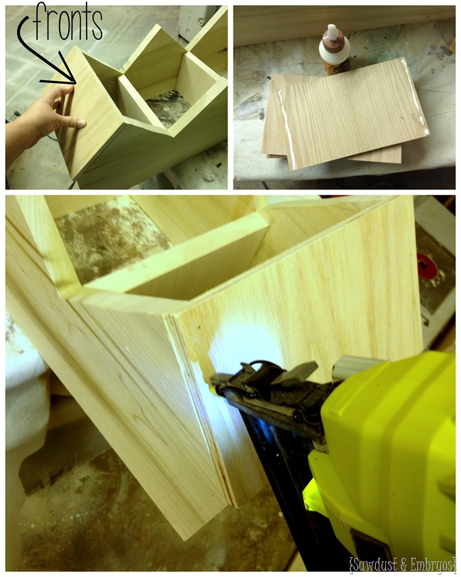 Mudroom cubbies for all those hats and mittens... simple build! [Sawdust and Embryos}