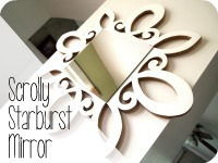 Scrolly Starburst Mirror {Sawdust & Embryos}