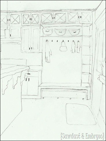 Sketch of FUTURE KITCHEN!