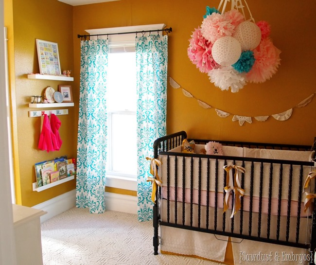 Baby Girl Nursery ...everything DIYed for under $400! {Sawdust and Embryos}