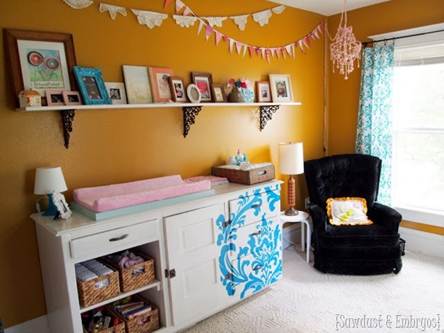 Baby girl nursery... DIYed for under $400 {Sawdust and Embryos}