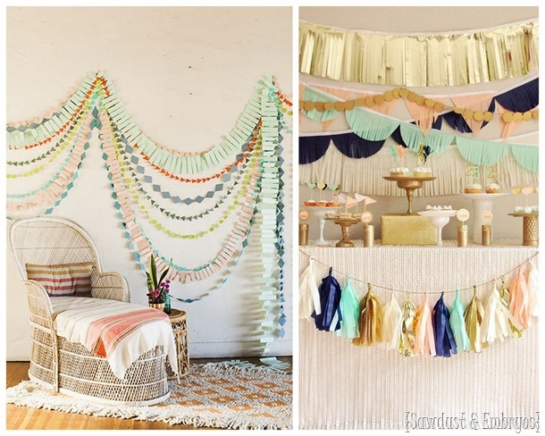 Beautiful garland ideas! {Sawdust and Embryos}