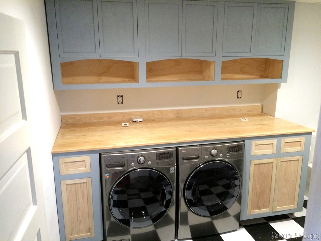 Operation laundry room shaker cabinets reality daydream for Laundry room cabinets