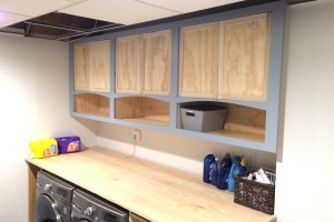 Operation Laundry Room {Shaker Cabinets}