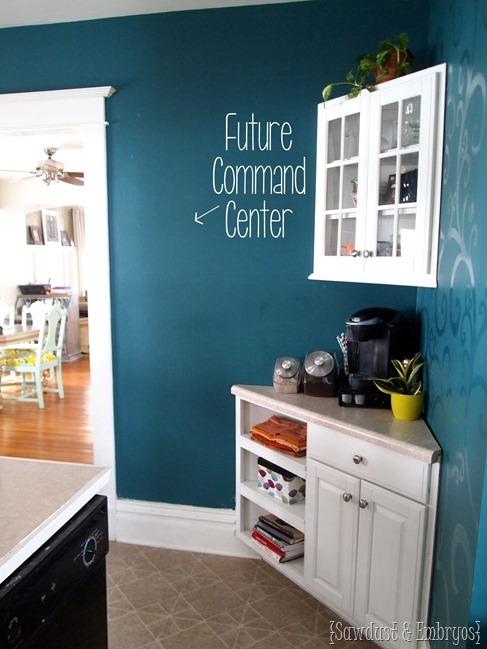 Corner Cabinet Coffee Bar {Sawdust & Embryos}