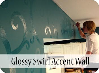 Glossy Swirl Accent Wall {Sawdust and Embryos}