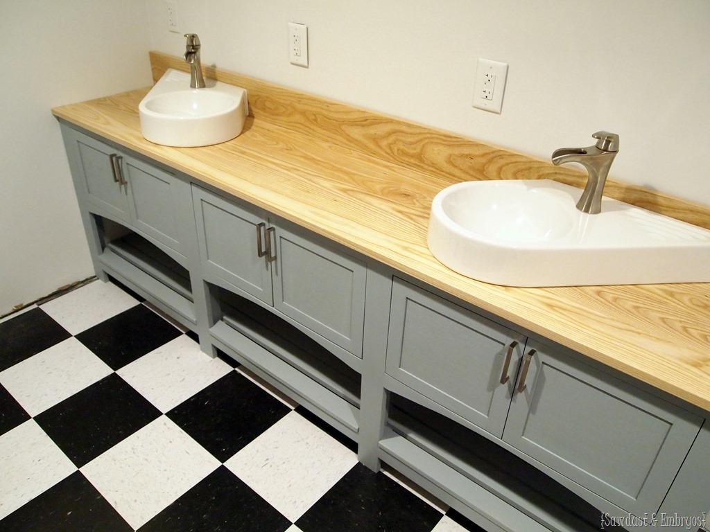 Operation laundry room the backsplash reality daydream for Custom bathroom vanities