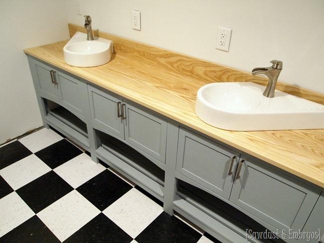 Hand-built custom bathroom vanity {Sawdust and Embryos}