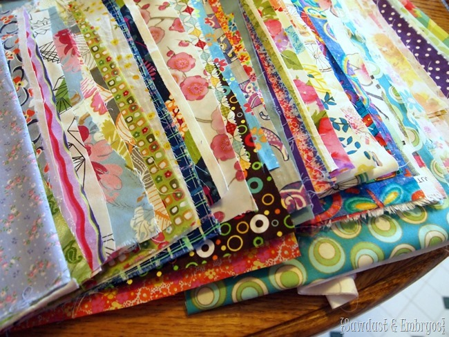 Have everyone you know send you a meaningful swatch of fabric to make an awesome baby quilt! {Sawdust and Embryos}